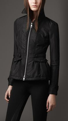 Burberry London Peplum Quilted Jacket