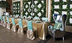 Gold and Turquoise wedding style