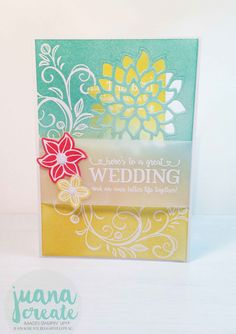 Juan Ambida: Falling Flowers/May Flowers & Better Together - Wedding Card