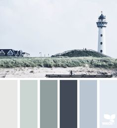 Coastal Hues via @designseeds, colors palette, inspiration, nature