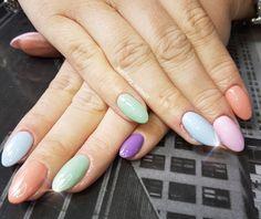 PASTEL NAILS #inspired #nailart #gelnailsdesign #gelnails #sculpted #acrylicnails #nailswag #handpainted #nailsofpintrest #nailedit #nailsoftheday #nails