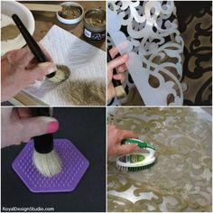 Avoiding color seepage + cleaning a stencil | Pro Tips for Successful Stenciling by Royal Design Studio