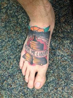 Liberty bell tattoo
