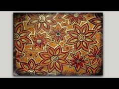 Gelli Print Doodle - Autumn Flowers - YouTube