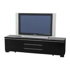 "BESTÅ BURS TV bench - high gloss black - IKEA 70 7/8"" W x 16 1/8 H"