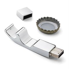 Usb bottle opener. This gadgets combines work and play perfectly.
