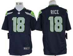Nike Seahawks #18 Sidney Rice Steel Blue Team Color Men's Embroidered NFL Game Jersey!$24.00USD Ice Hockey Jersey, Jersey Nike, Nfl Seattle, Seattle Seahawks, Sidney Rice, Lamar Miller, Ray Lewis Jersey, Devonta Freeman