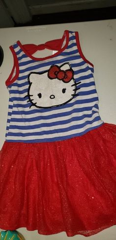 bd9c0c8ee03 Hello Kitty Girls Dress Size Small (6-6x)  fashion  clothing