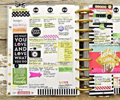 'Today I Choose Joy' weekly spread in The Happy Planner:tm: by mambi Design Team member Stephanie Buice Planner Layout, Planner Pages, Life Planner, Printable Planner, Planner Stickers, Planner Ideas, Printables, Planer Organisation, Create 365 Happy Planner