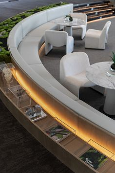 Lobby Lounge, Hotel Lobby, Lobby Interior, Interior Design, Banquette Seating, Outdoor Living, Outdoor Decor, Cafe Restaurant, Lounge Areas
