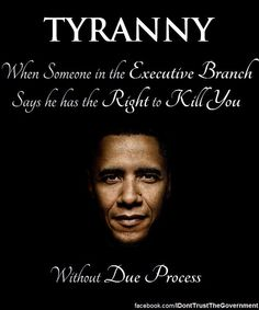 Tyranny: ☞ When someone in the Executive Branch says he has the Right to Kill You, Without Due Process. ☞ Or, illegally spy on you. ☞ Or, target you because you criticize him.