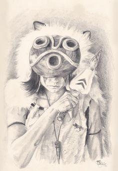Princess Mononoke sketch