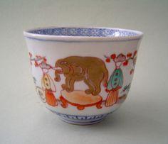 Elephant motif on Imari cup