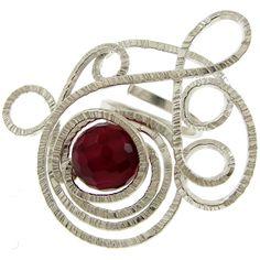 Emmanuela.gr - Χειροποίητα Κοσμήματα. Ασημένια δαχτυλίδια, σκουλαρίκια, βραχιόλια, μενταγιόν, κολιέ & καρφίτσες, γυναικεία, 2014 - Δαχτυλίδια :: Χειροποίητο Ασημένιο Δαχτυλίδι με Πέτρα Αχάτη