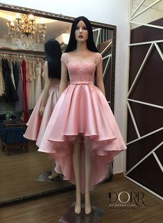 Cute Short Dresses, High Low Prom Dresses, Stylish Dresses, Homecoming Dresses, Baby Girl Party Dresses, Cute Dresses For Party, Dama Dresses, Frock Fashion, Mein Style