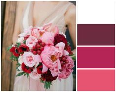 White, Maroon, Berry, and Strawberry Wedding Colour Scheme #ezeevents #weddings