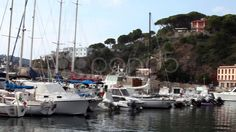 Sailboats At Porto Azzurro, Elba Island - Stock Footage | by eZeePicsStudio