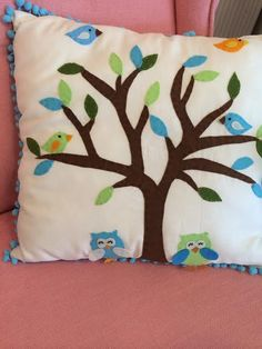 ağac,baykuş ve kuşlar...