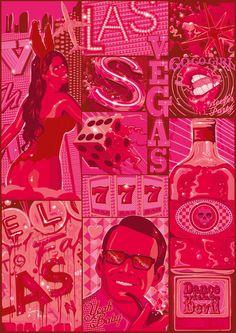 viva las vegas  Art Print (oh my god)