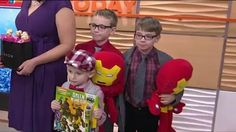 Amy DeLine, Avon representative, is accompanied by her three boys as she talks about Avon's 12th year contributing to TODAY's Toy Drive. This year the company is donating over $450,000 worth of toys.