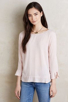 Derry Blouse #anthropologie  I love the color and style of this blouse and that is appropriate for work, as well as a casual evening out.