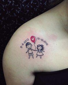 Tattoo Mama, Mommy Tattoos, Tattoo For Son, Mother Tattoos, Family Tattoos, Tattoos For Kids, Tattoos For Daughters, Couple Tattoos, Future Tattoos