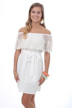 Lace Doll Dress, white $56 www.themintjulepboutique.com