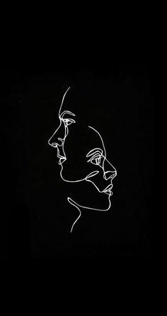 dark wallpaper iphone 57 Trendy minimalist line art wallpaper - Black Aesthetic Wallpaper, Aesthetic Iphone Wallpaper, Aesthetic Wallpapers, Iphone Wallpaper Art, Pastel Wallpaper, Dark Wallpaper, Trendy Wallpaper, Drawing Wallpaper, Minimalist Wallpaper