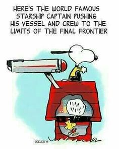 World famous starship Captain Snoopy and his number one Woodstock...