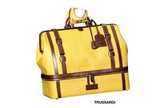 #Trussardi man BAG - #yellow leather.