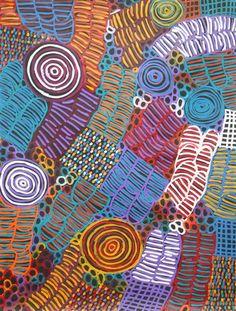 Betty Mbitjana - Untitled, Aboriginal Art