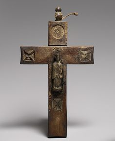 Crucifix: Saint Anthony of Padua, 18th century  Angola/Democratic Republic of Congo; Kongo  Brass