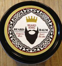 BEARD BALM - Strong Man, Soft Beard on Etsy, $7.00