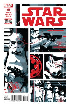 """MARVEL COMICS (W) Jason Aaron (A) Jorge Molina (CA) David Aja """"The Last Flight of the Harbinger"""" STARTS NOW! • Sgt. Kreel is back with an all-new squad of stormtroopers! • Go inside the minds of an el"""