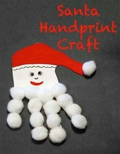 We will do this one:* Make santa child's hand outline
