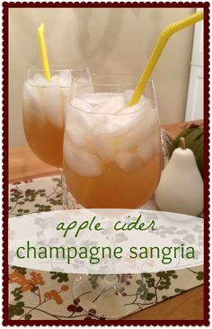 Apple cider champagne sangria- Only 110 calories for your 1800 calorie Thanksgiving Day meal!