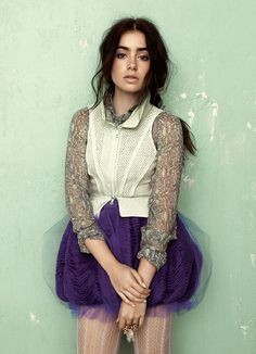 lilly collins....best outfit ever