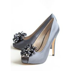 Chantelle Embellished Heels In Midnight Blue ($100) ❤ liked on Polyvore