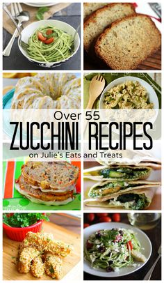 This will be very handy cause Brandy's co-workers are giving him Zucchini like crazy! Over 55 Zucchini Recipes from zucchini cake to zucchini lasagna, zucchini is one of the most versatile summer vegetables! Lasagna Zucchini, Zucchini Cake, Zuchinni Recipes, Vegetable Recipes, Cooking Recipes, Healthy Recipes, Advocare Recipes, Lasagna Recipes, Vegetarian Cooking