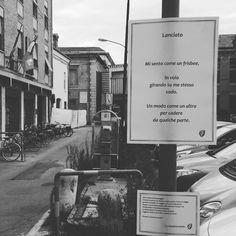 Anche piazza Verdi a Ferrara ha la sua fermata poetica ora.