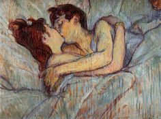 In Bed The Kiss (1892) - Henri de Toulouse-Lautrec
