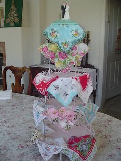 Show and Tell Hanky Cake