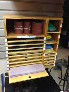 Sandpaper Storage Wall-Hanging Box