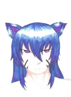 blue kitsune