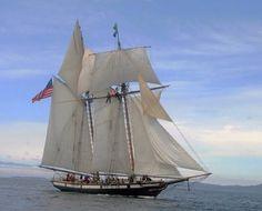 "Scaled Schooner Model ""Atlantic"" , Yacht Atlantic Under Sails"