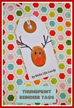 Make Life Lovely: Rudolph Cake Pops + Reindeer Thumbprint Gift Tags