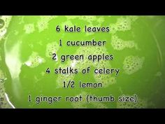 Mean Green juice recipe (from Fat Sick & Nearly Dead documentary) - need to add water/juice to blend rather than juice