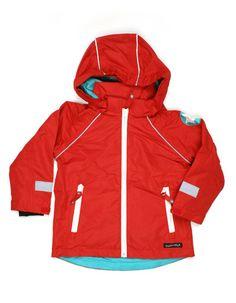 Red waterproof summer jacket for kids - Villervalla