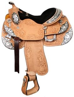Bling Horse - Showman Silver Show Saddle With Basketweave