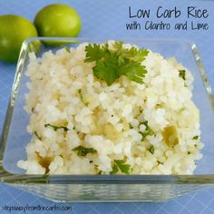 Low Carb Rice with Cilantro and Lime - made with shirataki rice!